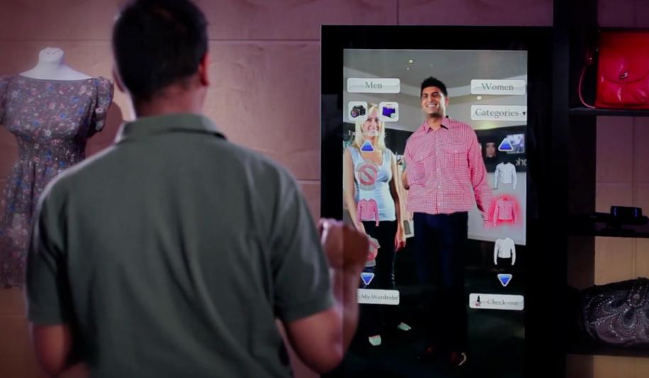 Probador virtual Aimirror o como aumentar el rendimento de una tienda de moda