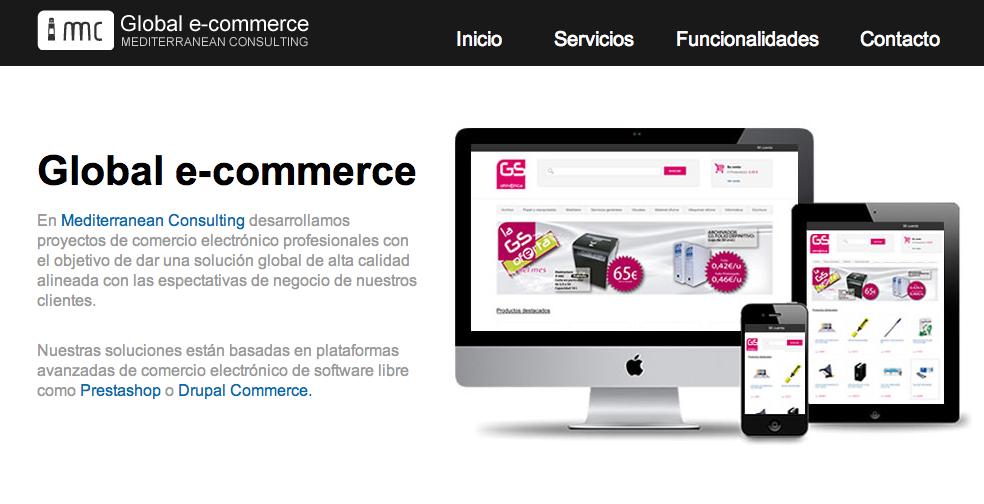 Inauguramos Global e-commerce , una nueva línea de servicios integrales para proyectos profesionales de comercio electrónico.